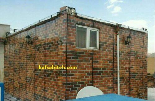 ایزوگام کاری نمای ساختمان با طناب راپل